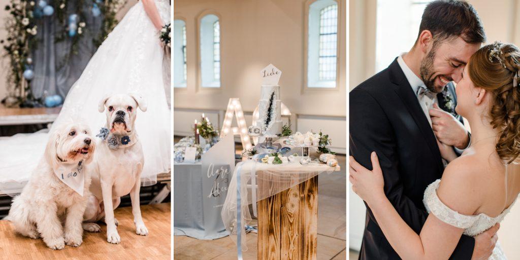 Wenn Hund, Tisch, Torte, Anzug und Kleid zusammenpassen .... dann heisst es HOCHZEIT! Foto: Petra Fiedler Wuppertal